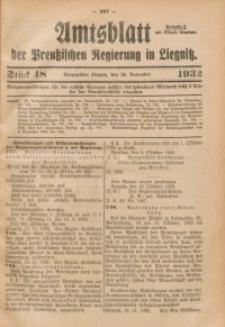 Amtsblatt der Preußischen Regierung in Liegnitz, 1932, Jg. 122, Nr. 48