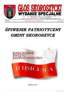 Głos Skoroszycki : kwartalnik Gminy Skoroszyce 2017, nr 48. Wydanie specjalne.