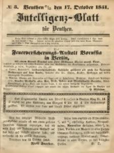 Intelligenz-Blatt für Beuthen, 1851, No. 3