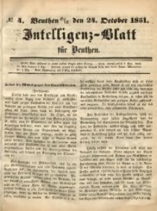Intelligenz-Blatt für Beuthen, 1851, No. 4