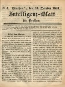 Intelligenz-Blatt für Beuthen, 1851, No. 5