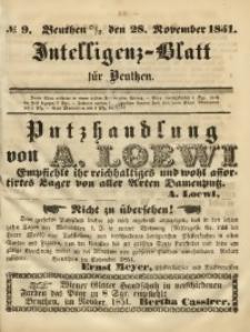 Intelligenz-Blatt für Beuthen, 1851, No. 9