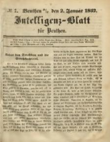 Intelligenz-Blatt für Beuthen, 1852, No. 1