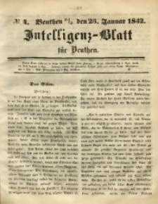 Intelligenz-Blatt für Beuthen, 1852, No. 4