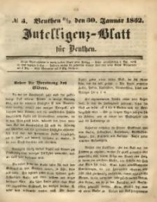 Intelligenz-Blatt für Beuthen, 1852, No. 5