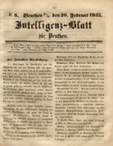 Intelligenz-Blatt für Beuthen, 1852, No. 8