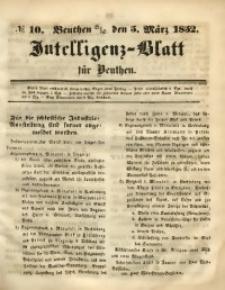 Intelligenz-Blatt für Beuthen, 1852, No. 10