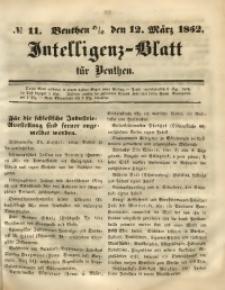 Intelligenz-Blatt für Beuthen, 1852, No. 11