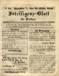 Intelligenz-Blatt für Beuthen, 1852, No. 13