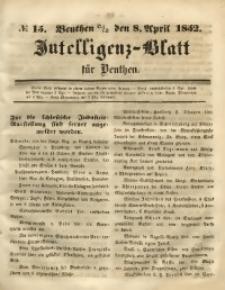 Intelligenz-Blatt für Beuthen, 1852, No. 15