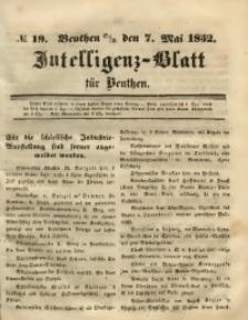 Intelligenz-Blatt für Beuthen, 1852, No. 19