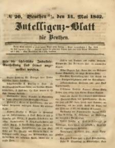 Intelligenz-Blatt für Beuthen, 1852, No. 20