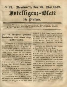 Intelligenz-Blatt für Beuthen, 1852, No. 22