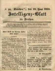 Intelligenz-Blatt für Beuthen, 1852, No. 25