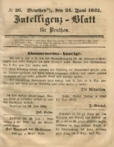Intelligenz-Blatt für Beuthen, 1852, No. 26