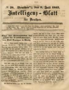 Intelligenz-Blatt für Beuthen, 1852, No. 28