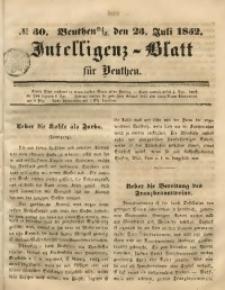 Intelligenz-Blatt für Beuthen, 1852, No. 30