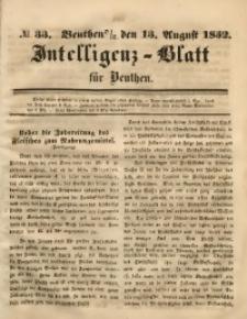 Intelligenz-Blatt für Beuthen, 1852, No. 33