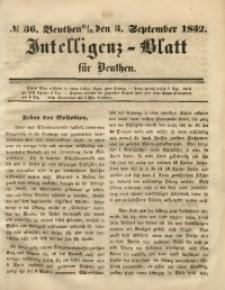 Intelligenz-Blatt für Beuthen, 1852, No. 36