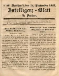 Intelligenz-Blatt für Beuthen, 1852, No. 38
