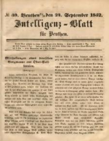 Intelligenz-Blatt für Beuthen, 1852, No. 39