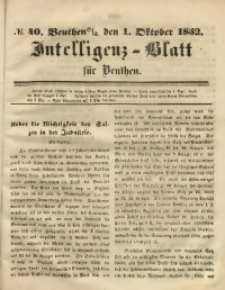 Intelligenz-Blatt für Beuthen, 1852, No. 40