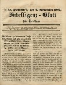 Intelligenz-Blatt für Beuthen, 1852, No. 45