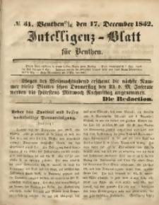 Intelligenz-Blatt für Beuthen, 1852, No. 51