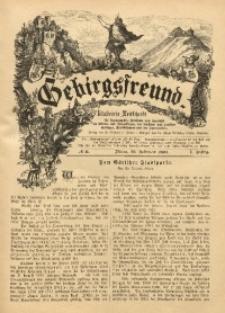 Gebirgsfreund, 1888/1889, Jg. 1, No. 11