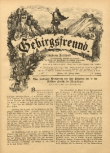Gebirgsfreund, 1888/1889, Jg. 1, No. 13