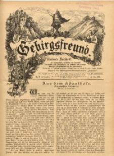 Gebirgsfreund, 1889/1890, Jg. 2, No. 20