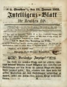 Intelligenz-Blatt für Beuthen O./S., 1855, No. 2