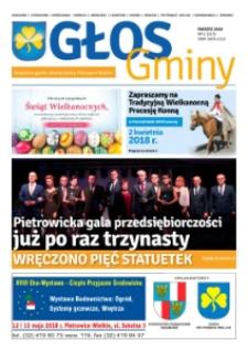 Głos Gminy : bezpłatna gazeta lokalna gminy Pietrowice Wielkie 2018, nr 1 (123).