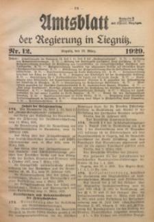 Amtsblatt der Regierung in Liegnitz, 1929, Jg. 119, Nr. 12