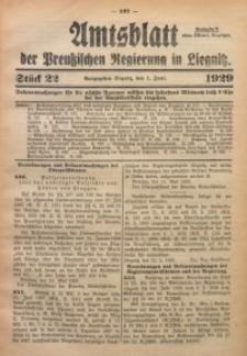 Amtsblatt der Preußischen Regierung in Liegnitz, 1929, Jg. 119, Nr. 22