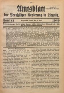 Amtsblatt der Preußischen Regierung in Liegnitz, 1929, Jg. 119, Nr. 23