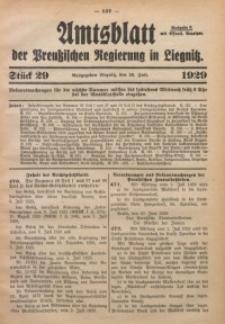 Amtsblatt der Preußischen Regierung in Liegnitz, 1929, Jg. 119, Nr. 29