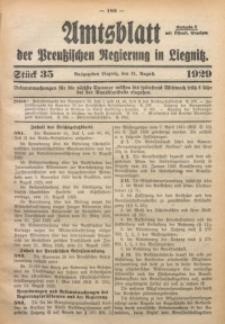 Amtsblatt der Preußischen Regierung in Liegnitz, 1929, Jg. 119, Nr. 35