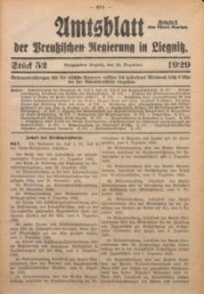 Amtsblatt der Preußischen Regierung in Liegnitz, 1929, Jg. 119, Nr. 52