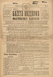Gazeta Urzędowa Województwa Śląskiego, 1923, R. 2, nr 1