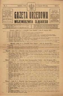Gazeta Urzędowa Województwa Śląskiego, 1923, R. 2, nr 3