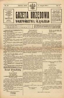 Gazeta Urzędowa Województwa Śląskiego, 1923, R. 2, nr 43