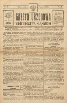 Gazeta Urzędowa Województwa Śląskiego, 1923, R. 2, nr 45