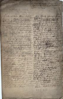 Brudnopis odpowiedzi na list w sprawie przeszłości parafii we Frydku
