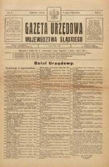 Gazeta Urzędowa Województwa Śląskiego, 1922, R. 1, nr 3
