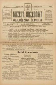 Gazeta Urzędowa Województwa Śląskiego, 1922, R. 1, nr 6