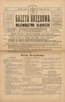 Gazeta Urzędowa Województwa Śląskiego, 1922, R. 1, nr 8