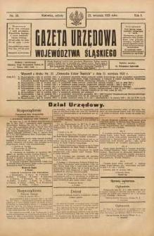 Gazeta Urzędowa Województwa Śląskiego, 1922, R. 1, nr 18