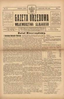 Gazeta Urzędowa Województwa Śląskiego, 1922, R. 1, nr 21