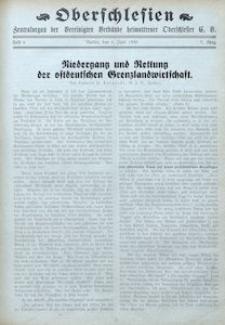 Oberschlesien. Zentralorgan der Vereinigten Verbände Heimattreuer Oberschlesier, 1930, Jg. 7, H. 6